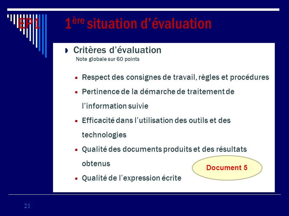 Critères dévaluation Note globale sur 60 points Respect des consignes de travail, règles et procédures Pertinence de la démarche de traitement de linf