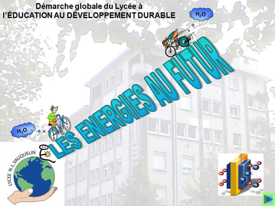 H2OH2O H2OH2O Démarche globale du Lycée à lÉDUCATION AU DÉVELOPPEMENT DURABLE