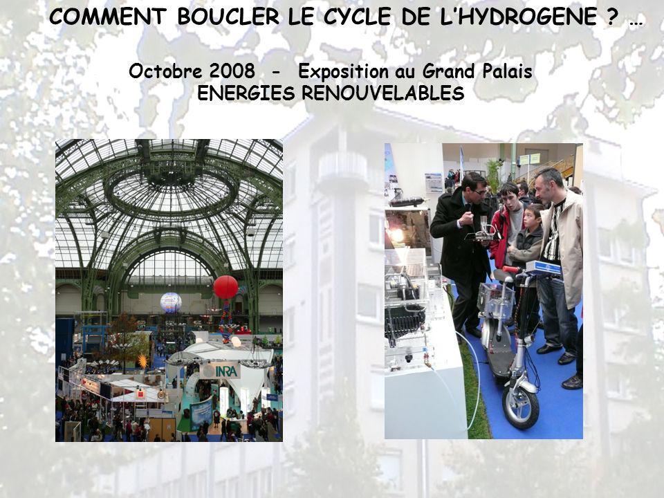 Octobre 2008 - Exposition au Grand Palais ENERGIES RENOUVELABLES