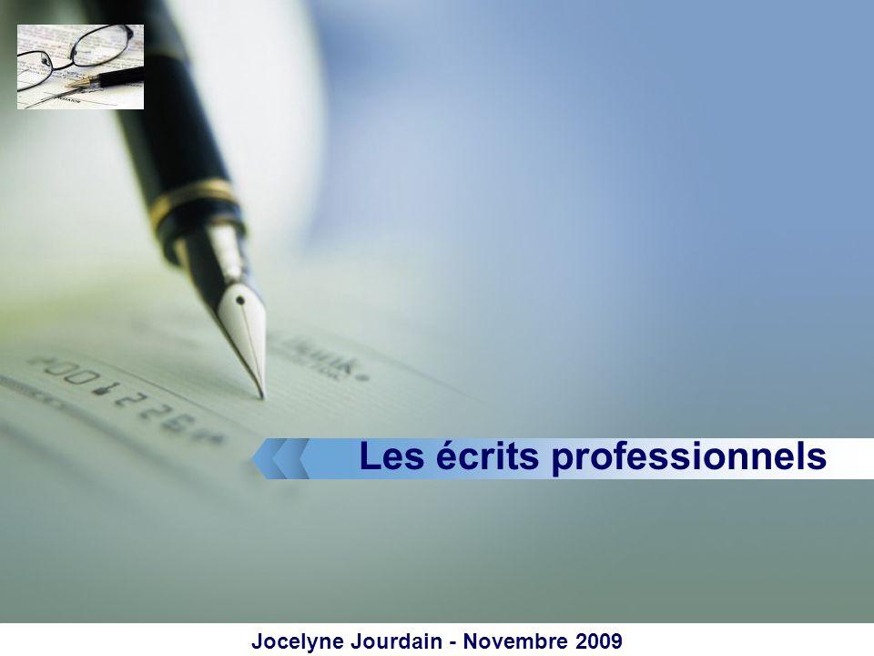 LOGO Les écrits professionnels Jocelyne Jourdain - Novembre 2009