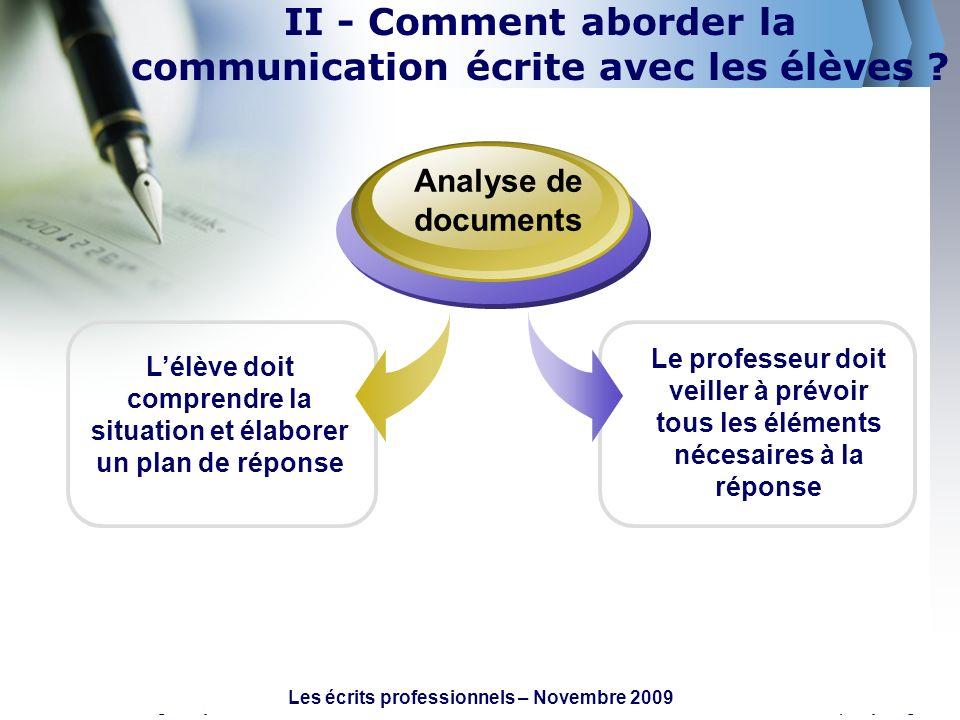 www.themegallery.comCompany Logo Lélève doit comprendre la situation et élaborer un plan de réponse Analyse de documents Le professeur doit veiller à
