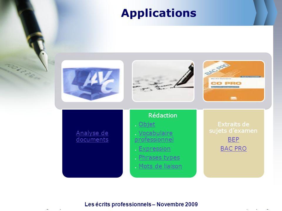www.themegallery.comCompany Logo Applications Analyse de documents Rédaction. ObjetObjet. Vocabulaire professionnelVocabulaire professionnel. Expressi