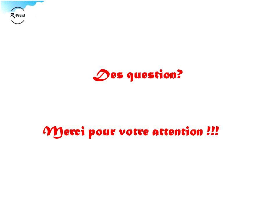 Des question? Merci pour votre attention !!!