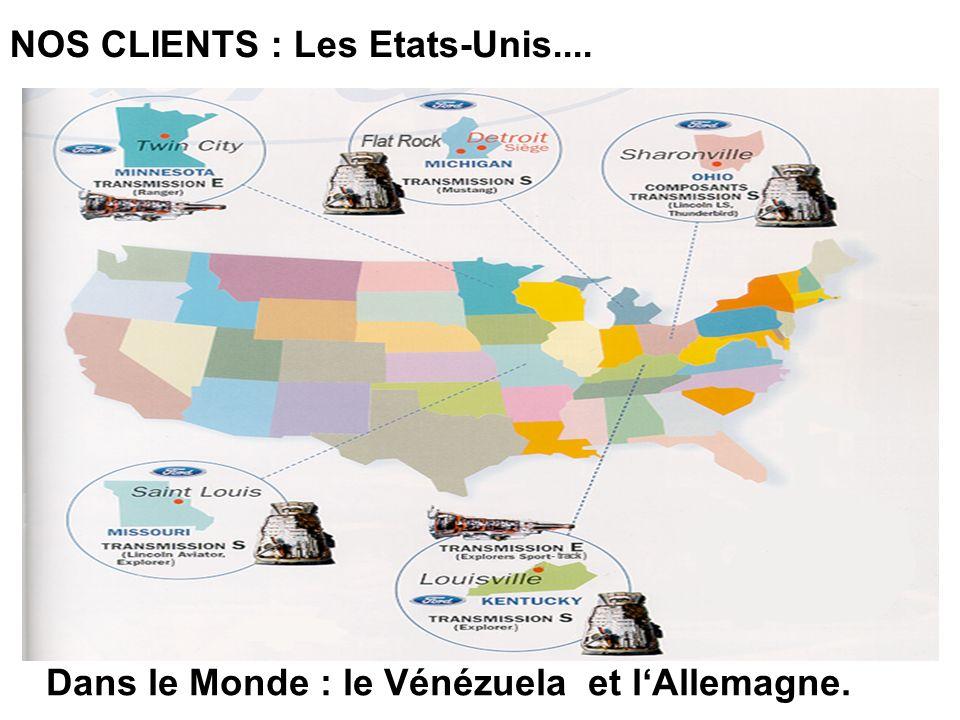 NOS CLIENTS : Les Etats-Unis.... Dans le Monde : le Vénézuela et lAllemagne.