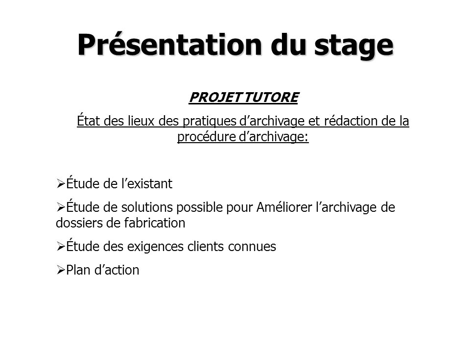 Présentation du stage MEMOIRE DE STAGE Évaluation des fournisseurs -Cotation des nouveaux fournisseurs et existants -Audits sur site -Présentation de la procédure en réunion de direction Coûts de non qualité -Identifier les défaillances -Capitaliser -Plan daction