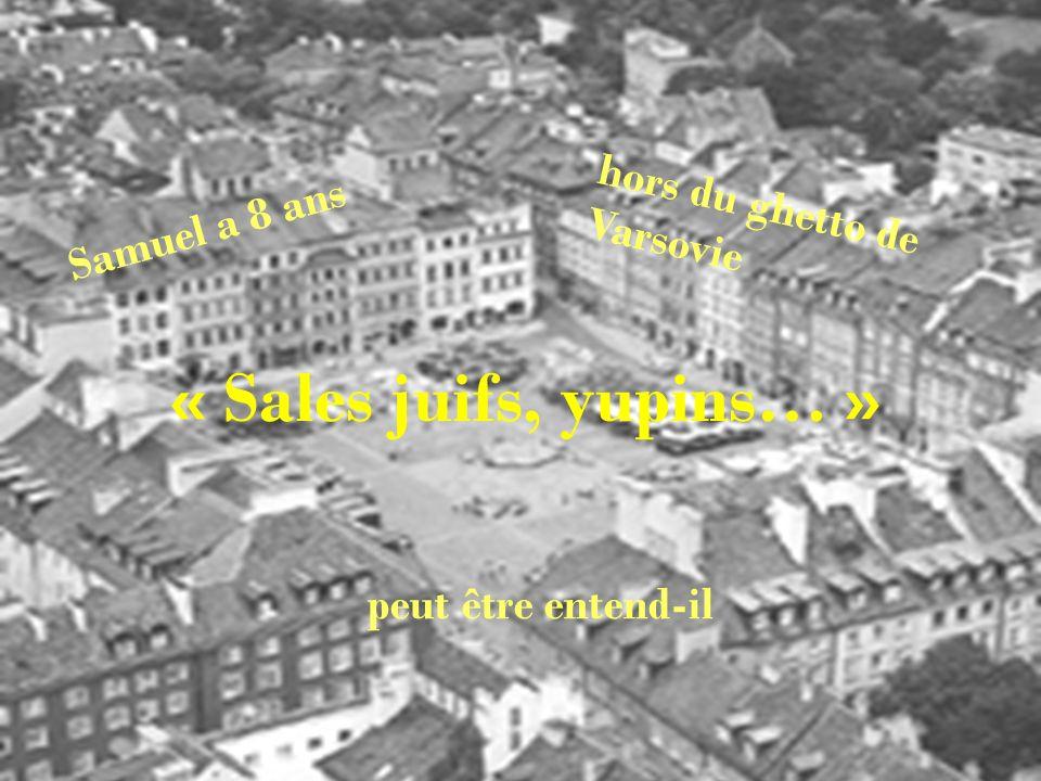 Samuel a 8 ans hors du ghetto de Varsovie peut être entend-il « Sales juifs, yupins… »