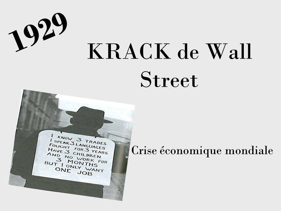 KRACK de Wall Street Crise économique mondiale 1929