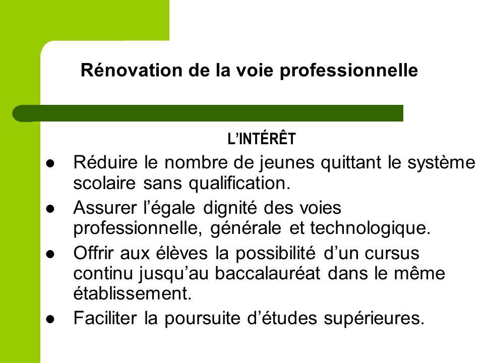 Rénovation de la voie professionnelle : orientation des élèves et organisation des parcours