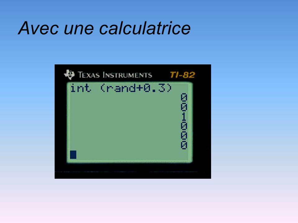 Avec une calculatrice