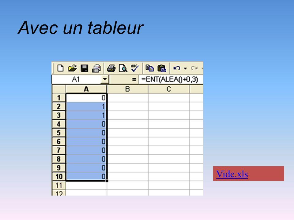 Avec un tableur Vide.xls
