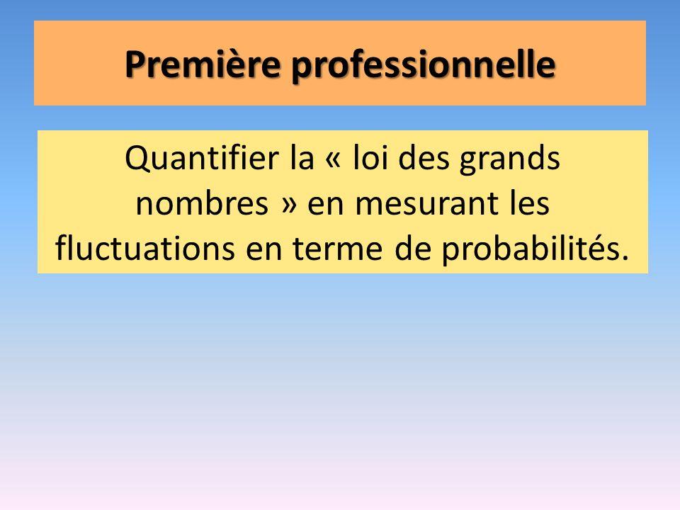 Première professionnelle Quantifier la « loi des grands nombres » en mesurant les fluctuations en terme de probabilités.