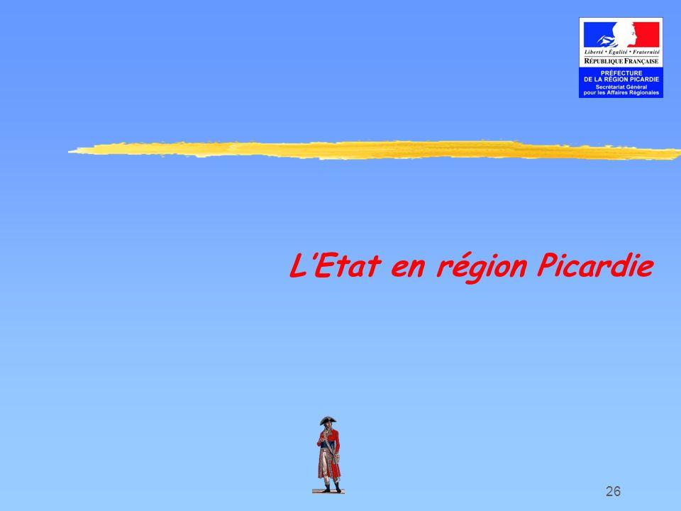 26 LEtat en région Picardie