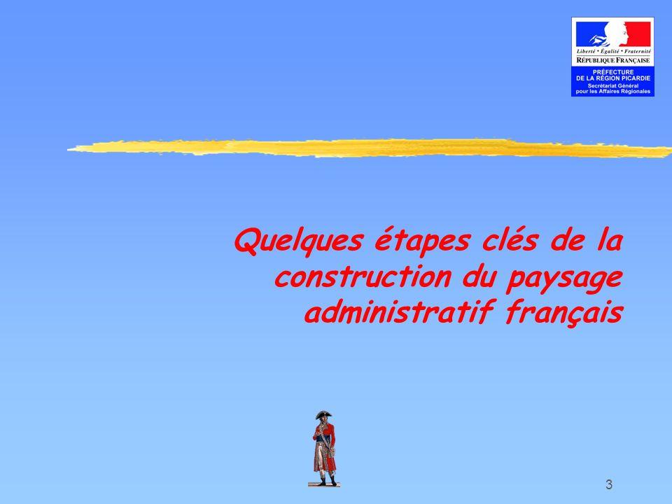 3 Quelques étapes clés de la construction du paysage administratif français