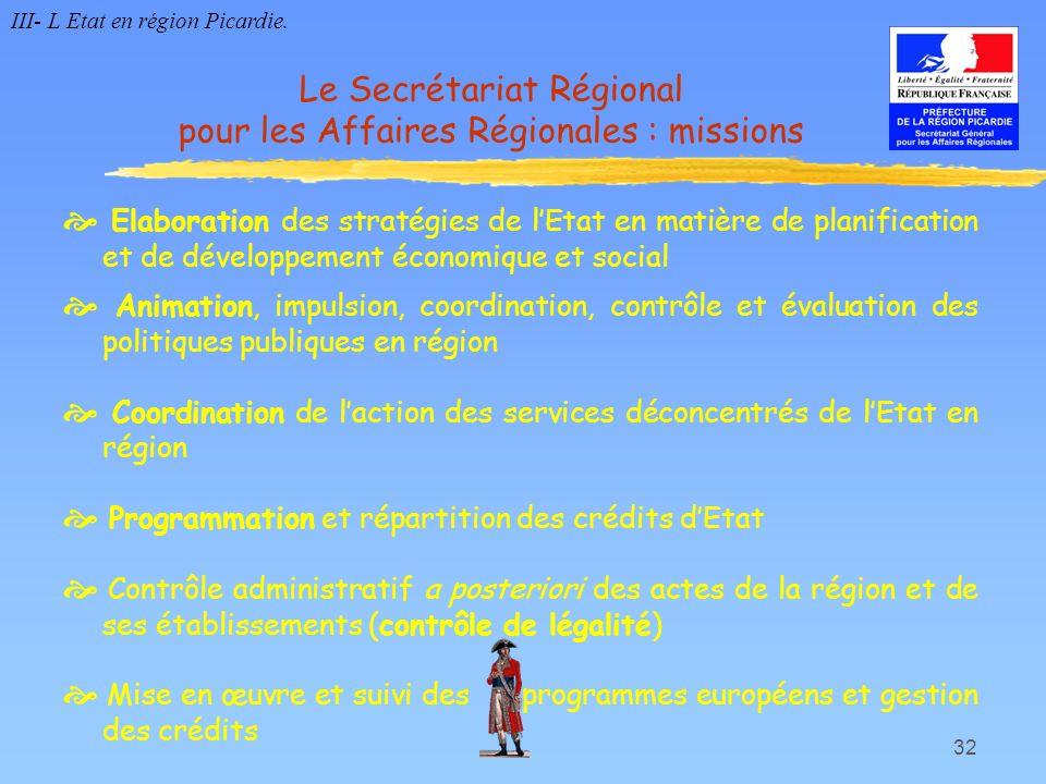 32 Elaboration des stratégies de lEtat en matière de planification et de développement économique et social Animation, impulsion, coordination, contrô