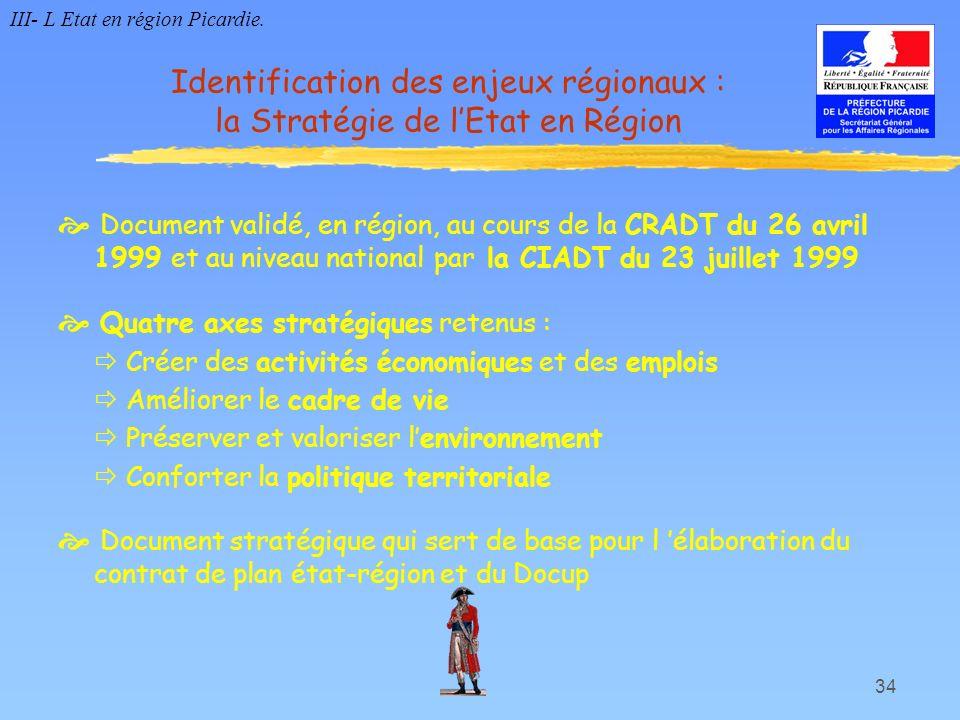 34 Document validé, en région, au cours de la CRADT du 26 avril 1999 et au niveau national par la CIADT du 23 juillet 1999 Quatre axes stratégiques re