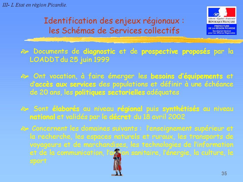 35 Documents de diagnostic et de prospective proposés par la LOADDT du 25 juin 1999 Ont vocation, à faire émerger les besoins déquipements et daccès a