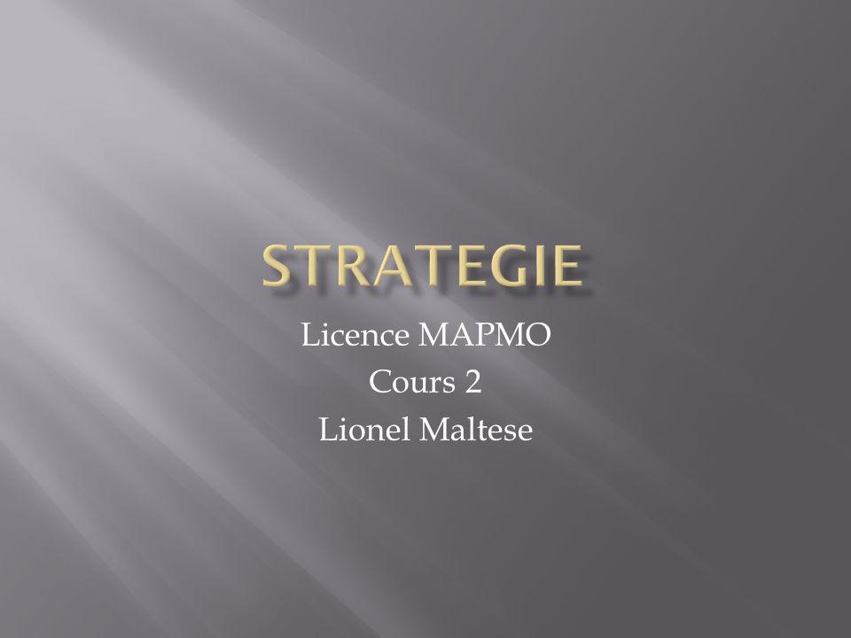 Du grec strategia, la stratégie est lart de celui qui mène les armées au combat.