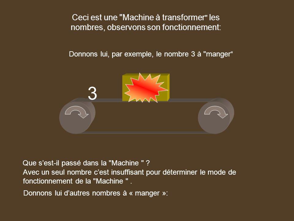 2 5 1 2 0 1 2 -2 5 2 donne 5 1 2 0 1 -1 2 -2 5 On saperçoit que si on ne voit pas les 2 nombres: celui qui rentre et celui qui ressort il est difficile de cerner le fonctionnement de la machine.