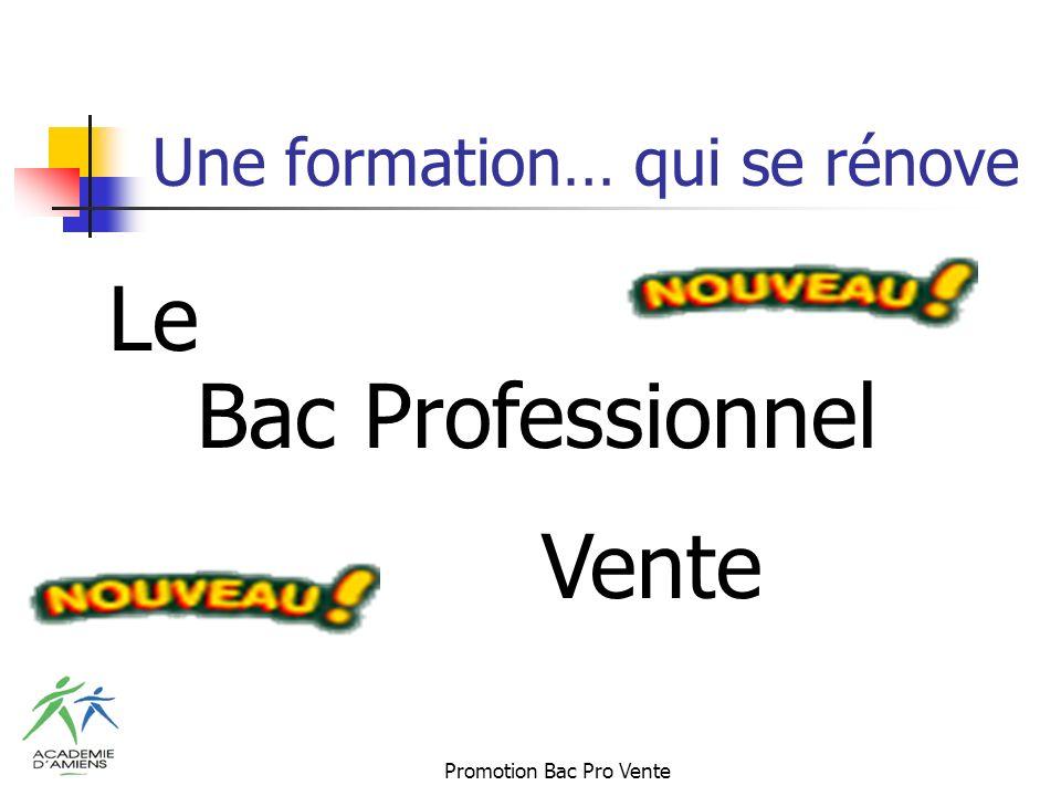 Promotion Bac Pro Vente Une formation… qui se rénove Le Bac Professionnel Vente