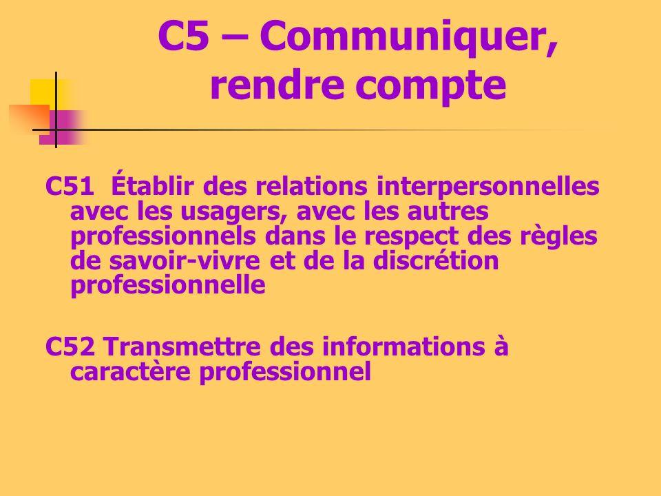 C4 – Réaliser et contrôler (MC) C41 Mettre en œuvre les techniques de conservation, de conditionnement des denrées périssables, des PCEA, des repas C4
