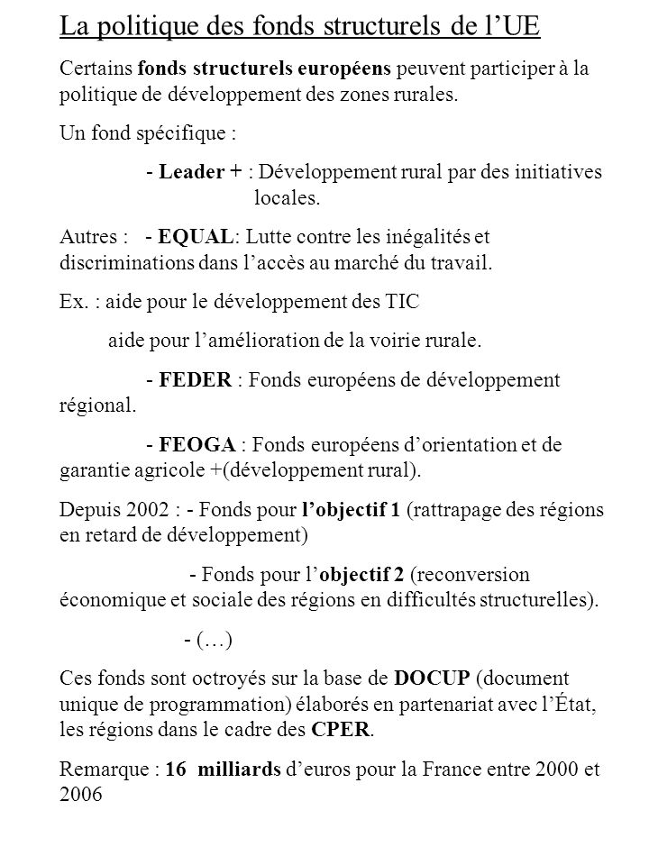 B.autres dispositions applicables en Z.R.R.