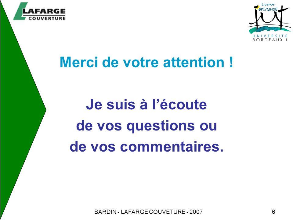 BARDIN - LAFARGE COUVETURE - 20077