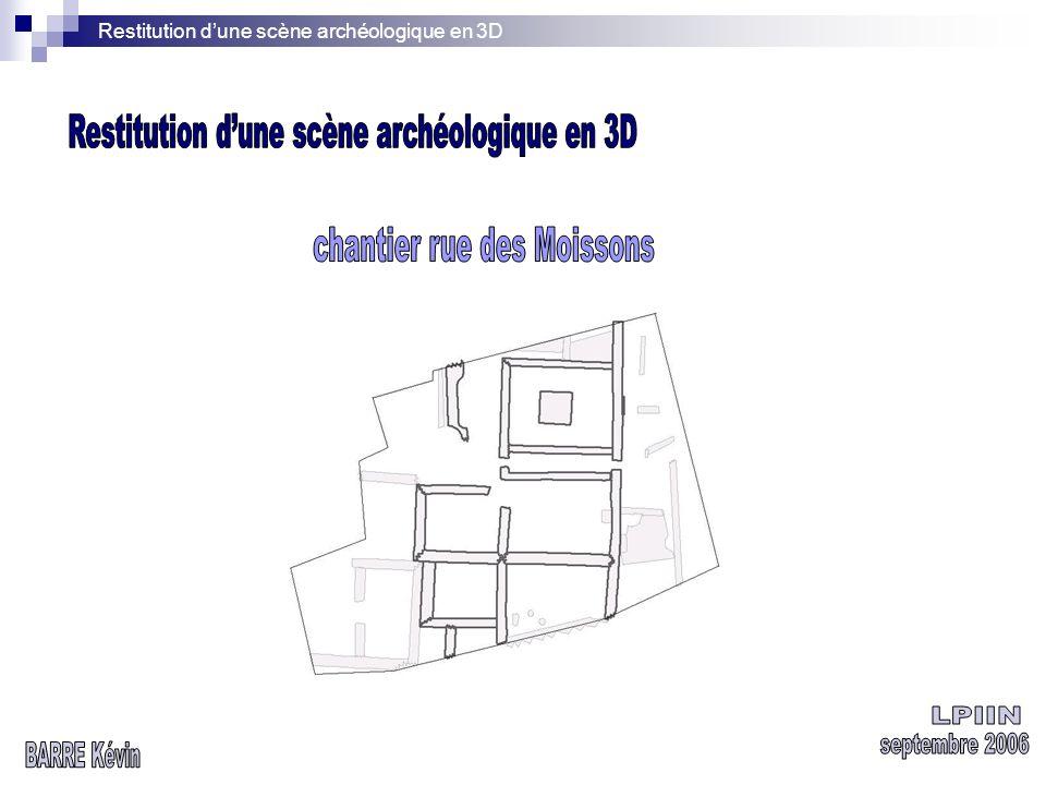 Restitution dune scène archéologique en 3D