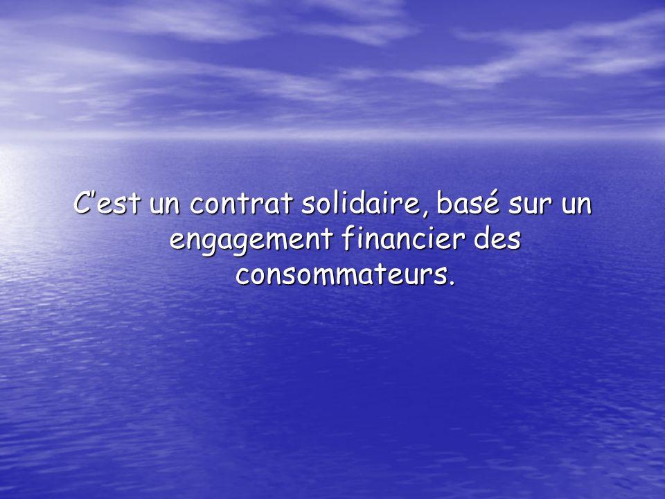 Cest un contrat solidaire, basé sur un engagement financier des consommateurs.