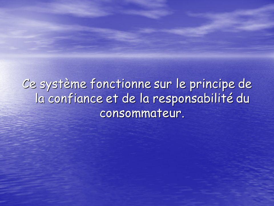 Ce système fonctionne sur le principe de la confiance et de la responsabilité du consommateur.
