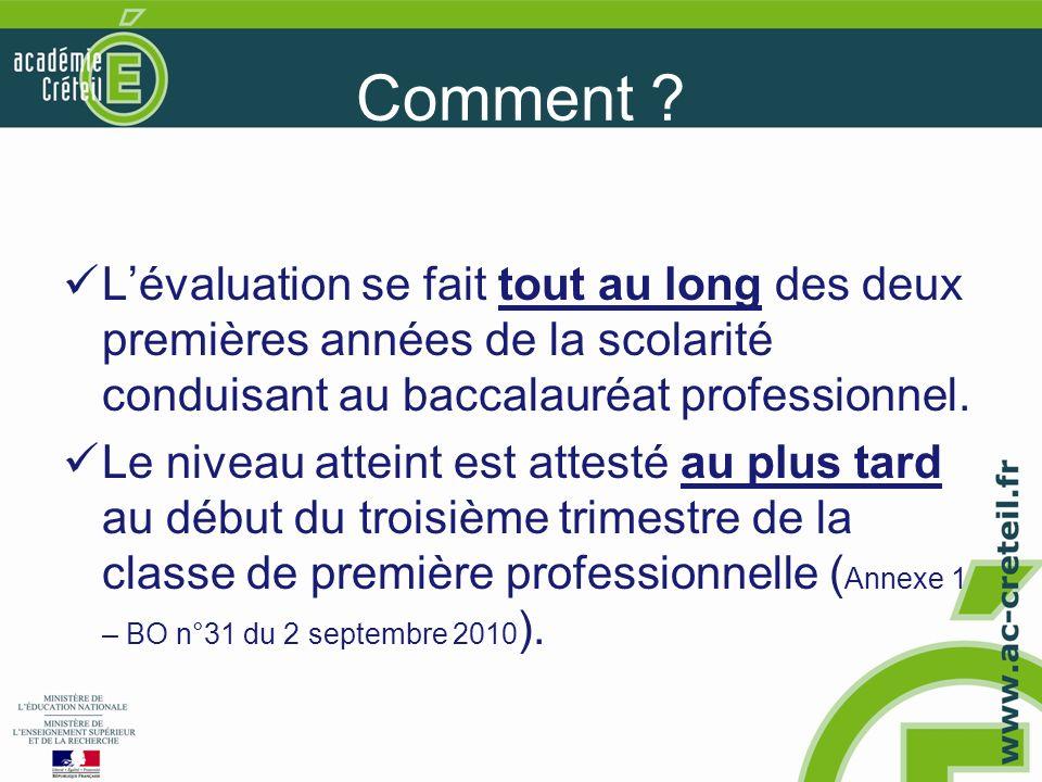 NOTA BENE La qualification LV ne conditionne pas lobtention du BEP.