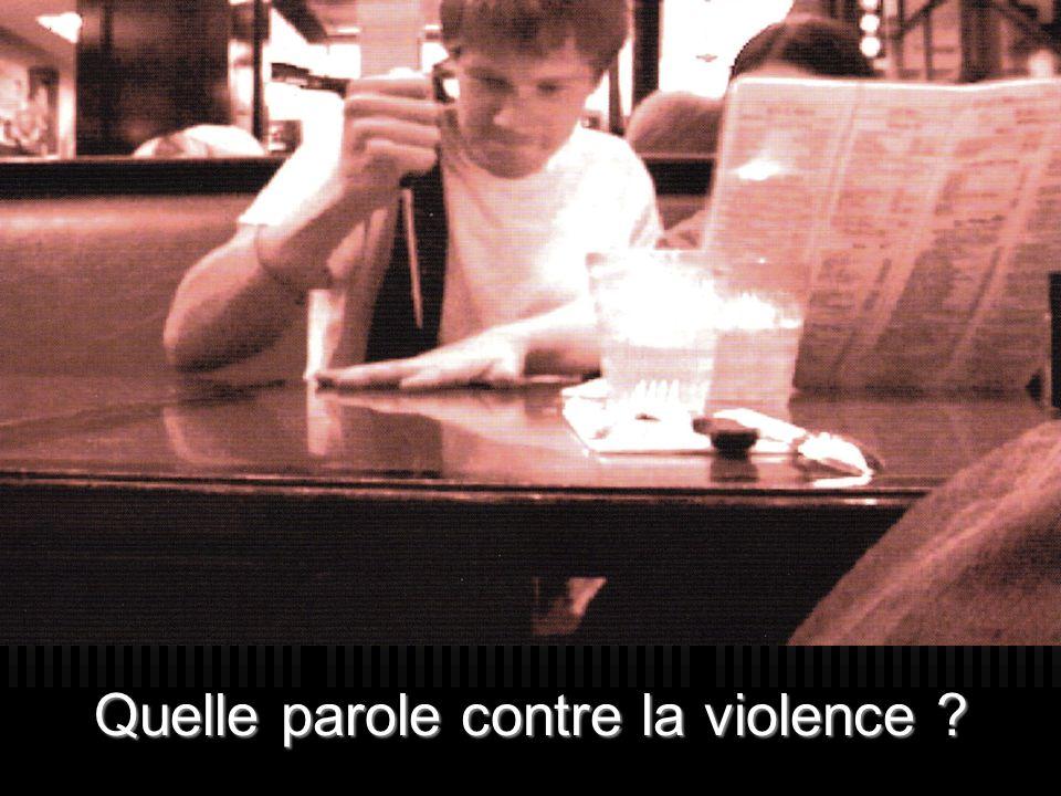 Quelle parole contre la violence ?