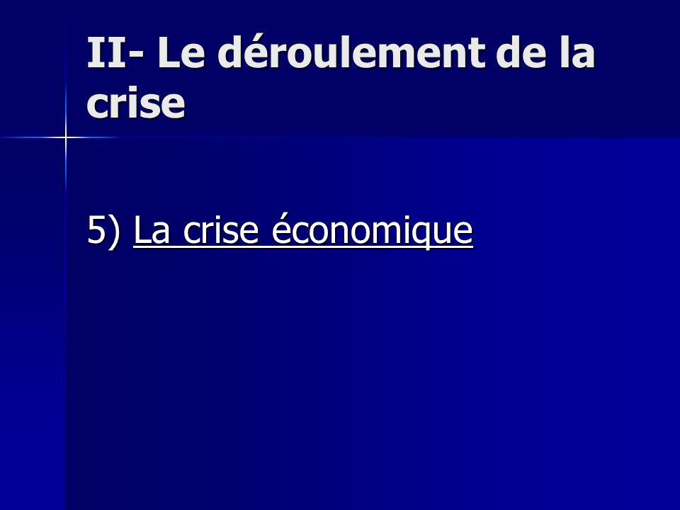 II- Le déroulement de la crise 5) La crise économique