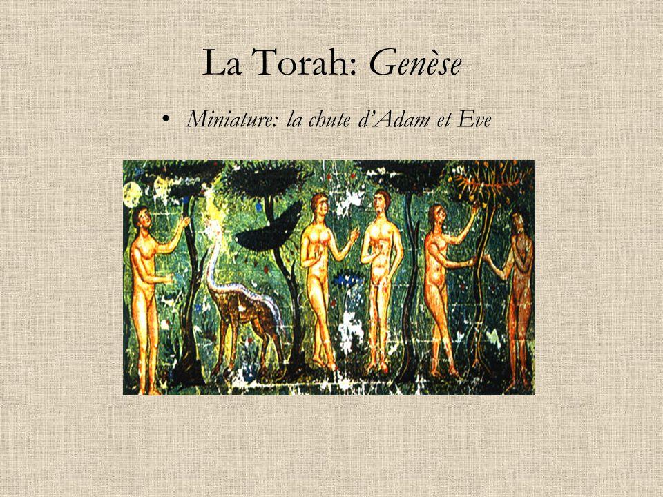 La Torah: Genèse Miniature: la chute dAdam et Eve