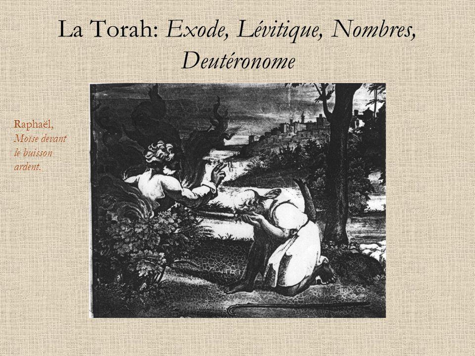 La Torah: Exode, Lévitique, Nombres, Deutéronome Raphaël, Moïse devant le buisson ardent.