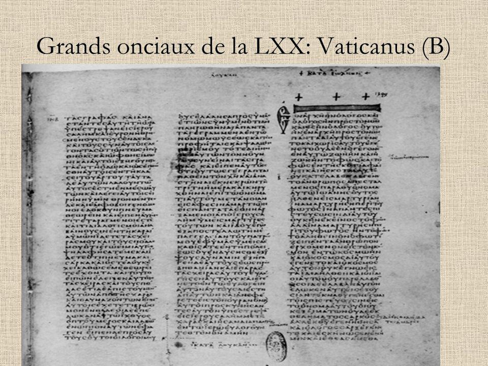 Grands onciaux de la LXX: Vaticanus (B)
