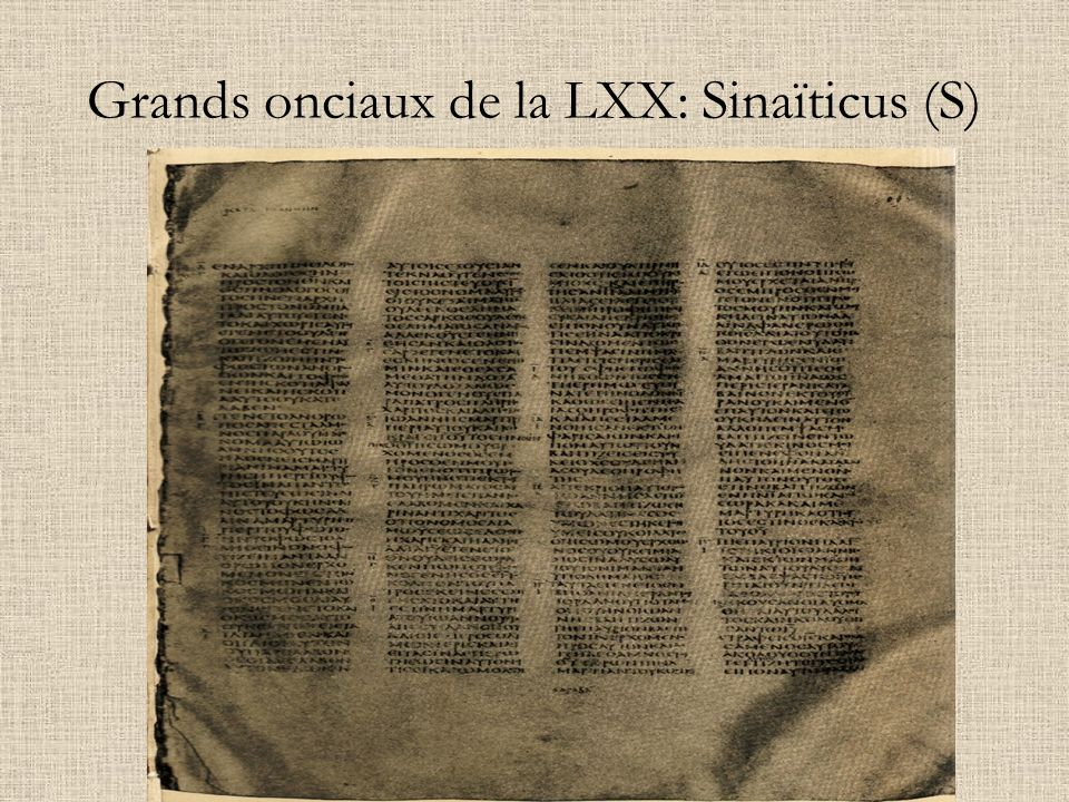 Grands onciaux de la LXX: Sinaïticus (S)