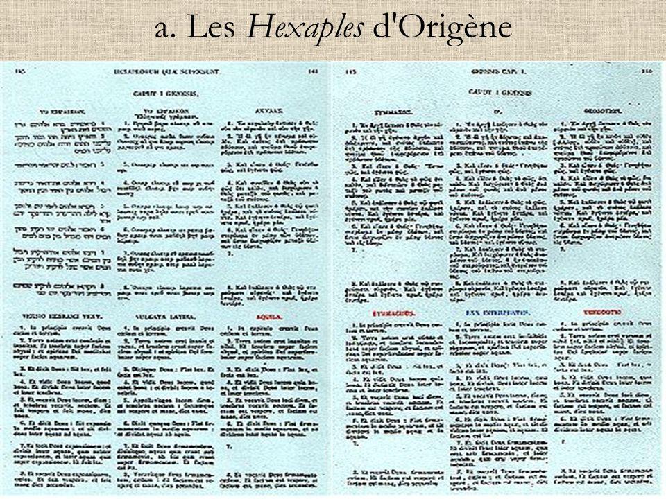 a. Les Hexaples d'Origène
