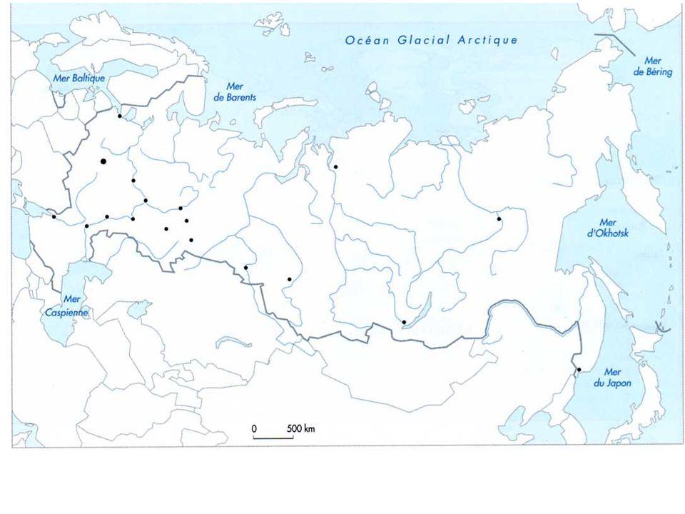 I atouts et contraintes dun espace immense 9500km douest en est au nord et à lest, espace du froid intense Laxe de communication majeur (transsibérien