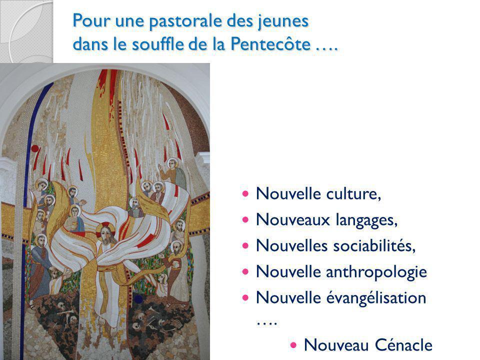 Pour une pastorale des jeunes dans le souffle de la Pentecôte …. Nouvelle culture, Nouveaux langages, Nouvelles sociabilités, Nouvelle anthropologie N