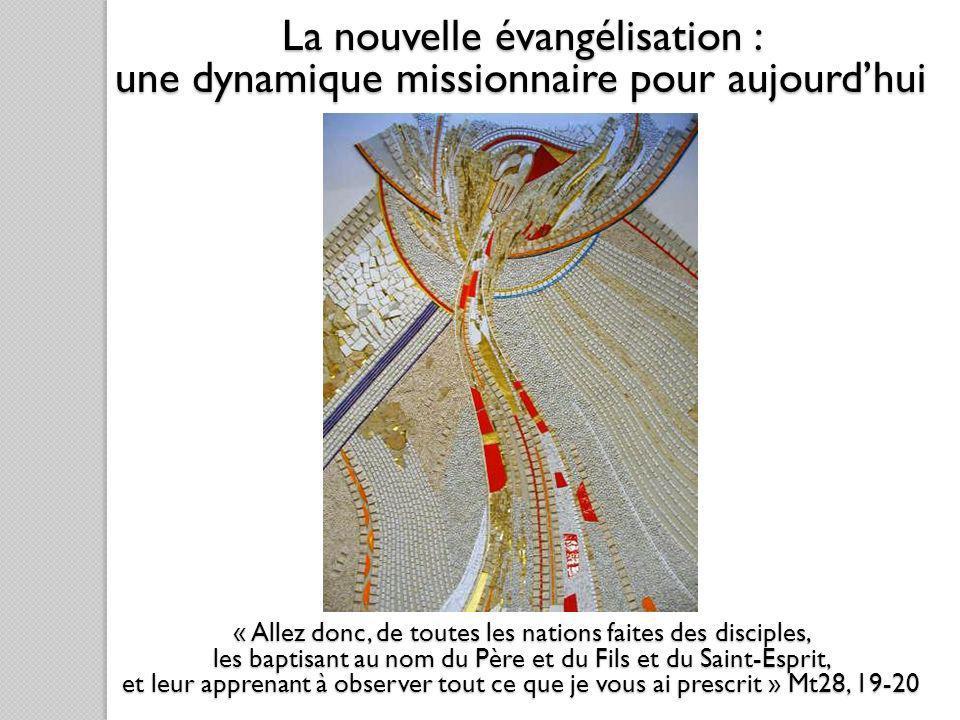 « Allez donc, de toutes les nations faites des disciples, les baptisant au nom du Père et du Fils et du Saint-Esprit, et leur apprenant à observer tou