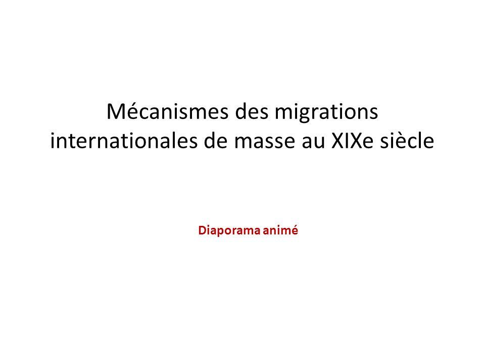 Mécanismes des migrations internationales de masse au XIXe siècle Diaporama animé