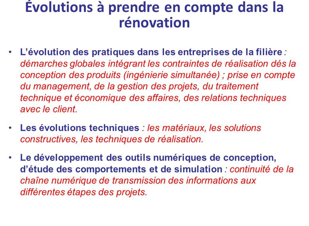 Lévolution des pratiques dans les entreprises de la filière : démarches globales intégrant les contraintes de réalisation dés la conception des produi