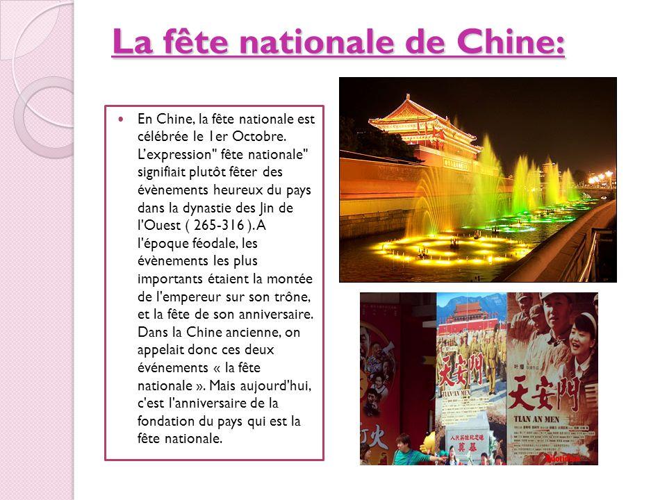 La fête nationale de Chine: En Chine, la fête nationale est célébrée le 1er Octobre. Lexpression