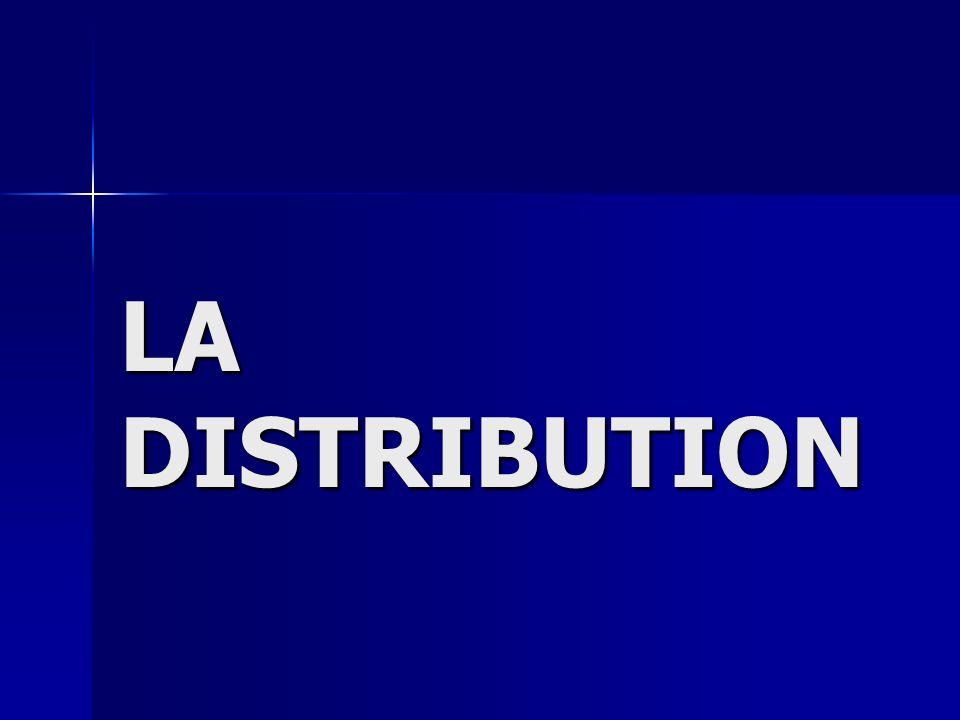 I- Définitions La distribution comprend toutes les techniques qui permettent à une entreprise découler ses produits.