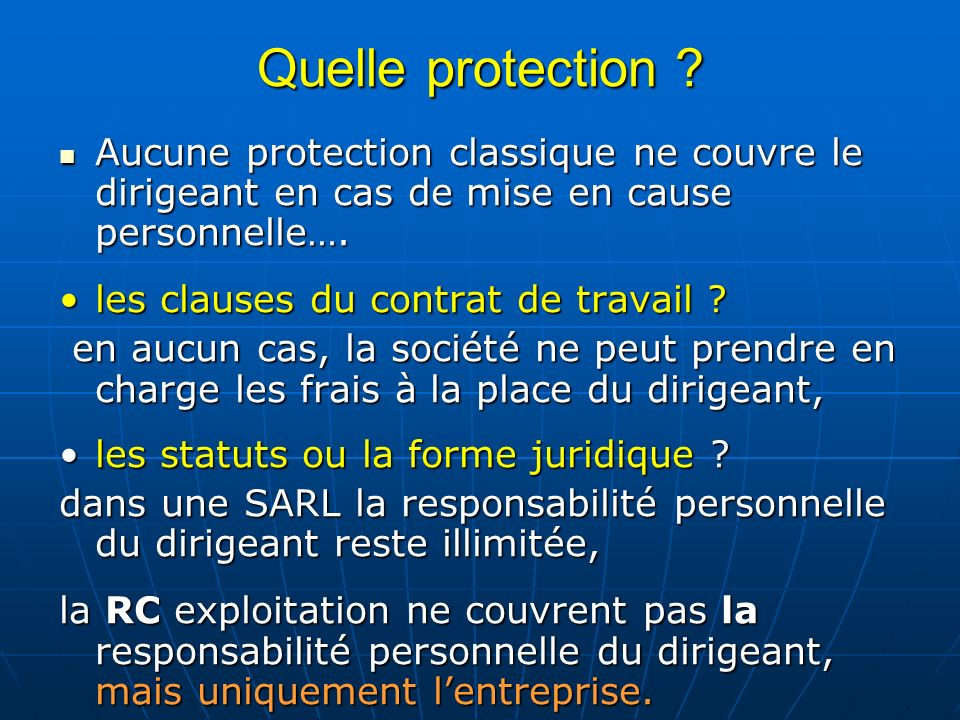 Quelle protection .