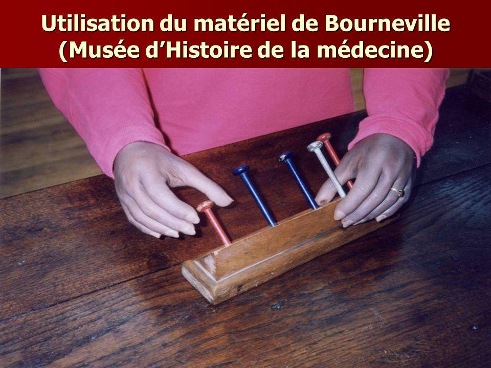 Utilisation du matériel de Bourneville (Musée dHistoire de la médecine)