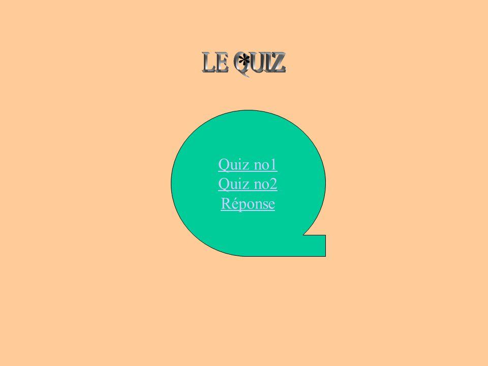 Quiz no1 Quiz no2 Réponse *