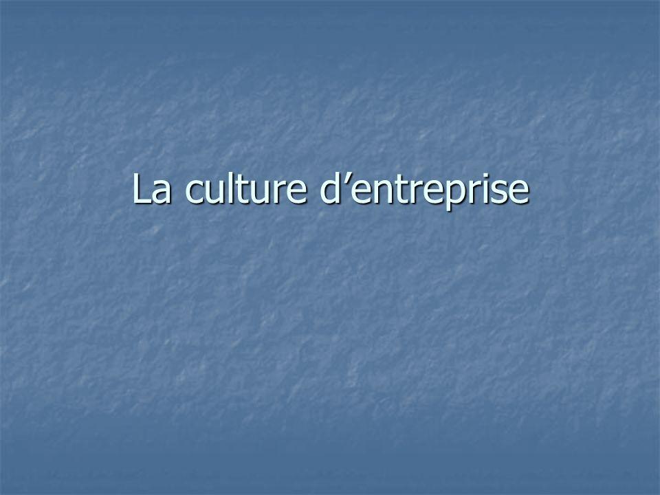 La culture dentreprise