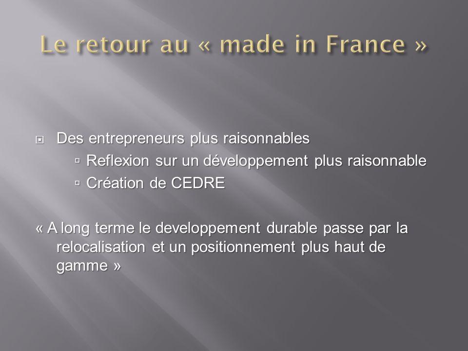 Des entrepreneurs plus raisonnables Des entrepreneurs plus raisonnables Reflexion sur un développement plus raisonnable Reflexion sur un développement