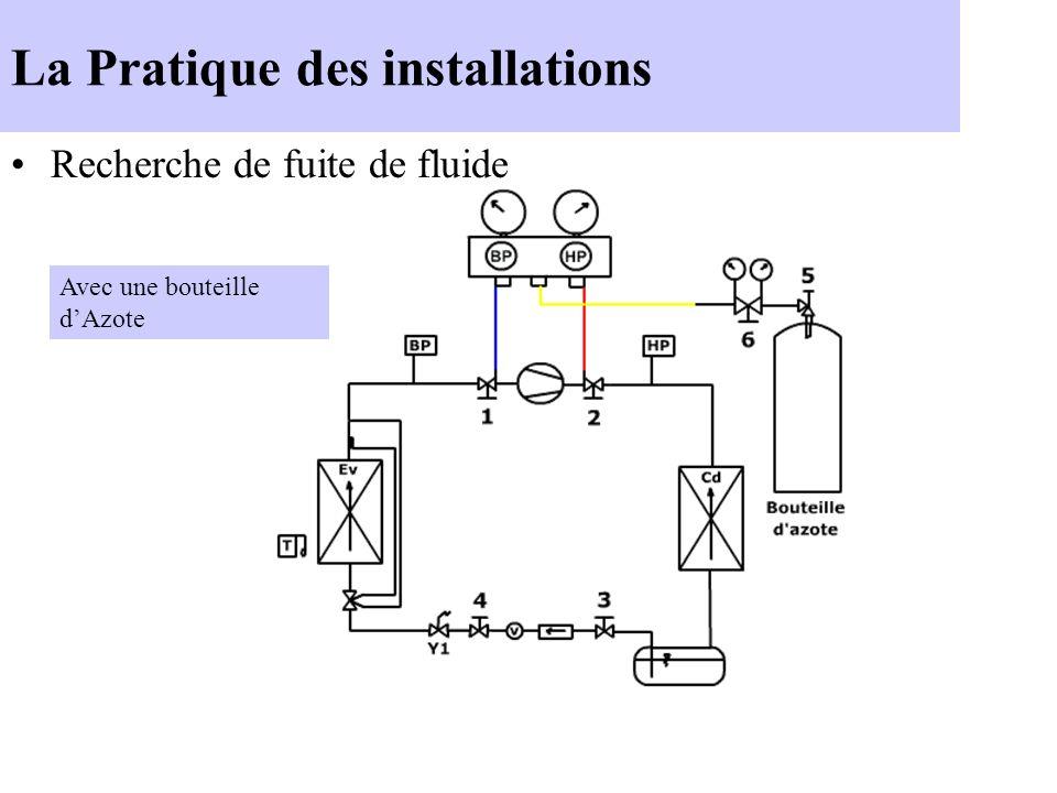 La Pratique des installations Tirage au vide Rôle : Enlever l air et l humidité du circuit frigorifique.
